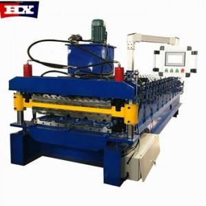 Free Uncoiler double layer used color steel metal roof panel sheet tile making cold roll forming machine