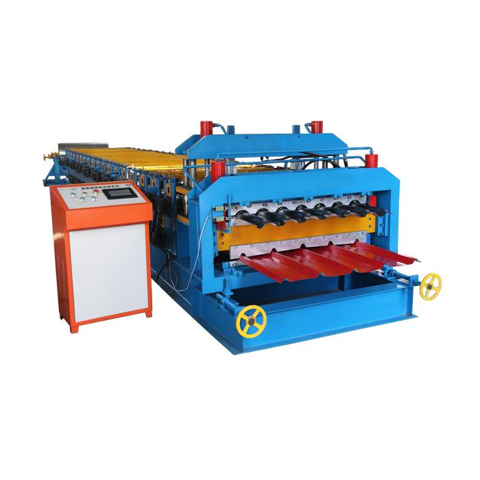 Cheap price T Keel Roll Forming Machine - OEM Factory for Automatic Colorful Aluminium Section Tile Manufacturing Equipment Roof Wall Panel Double Layer Roll Forming Machinery – Haixing Indu...