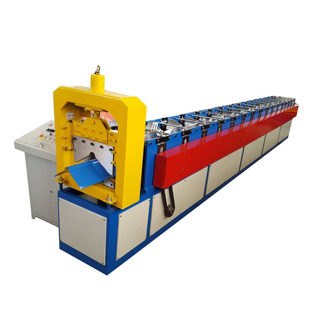 8 Year Exporter Colored Steel Roofing Sheet Arched Roll Forming Machine - Roof Ridge Cap Roll Forming Machine – Haixing Industrial