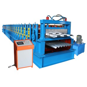 OEM China Heat Treatment Cutter Roof Panel Tile Steel Double Layer Rolling Forming Making Machine