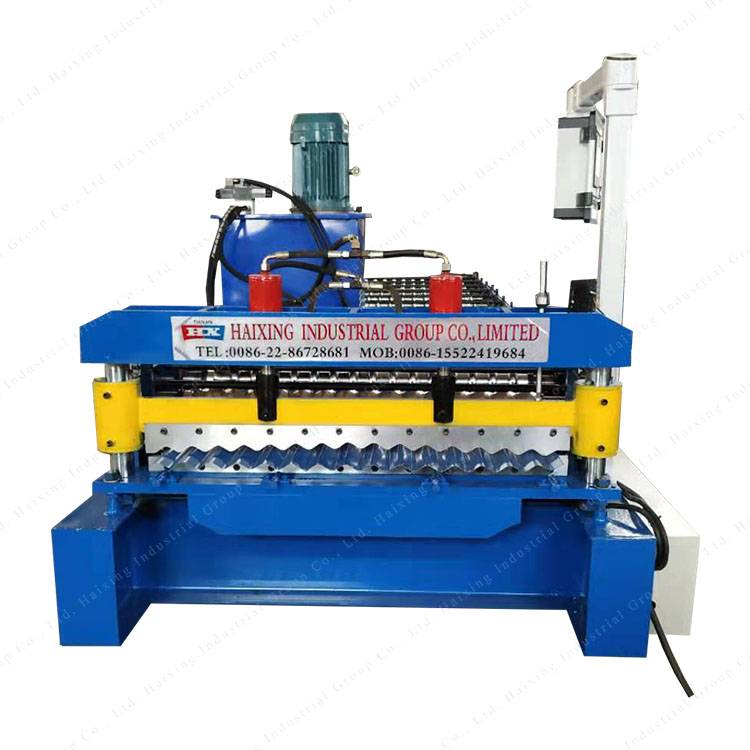 Discount wholesale Metal Roofing Sheet Corrugating Iron Sheet Roll Forming Making Machine,Cold Galvanizing Line Featured Image
