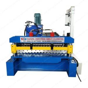 Supply OEM/ODM Corrugated Zinc Coated Metal Roof Plate Tile Roll Forming Making Machine