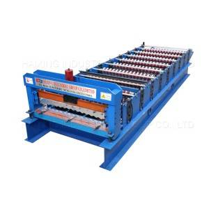 Best Price on Color Steel Galvanized Metal Trapezoidal Roof Tile Sheet Roll Forming Machine