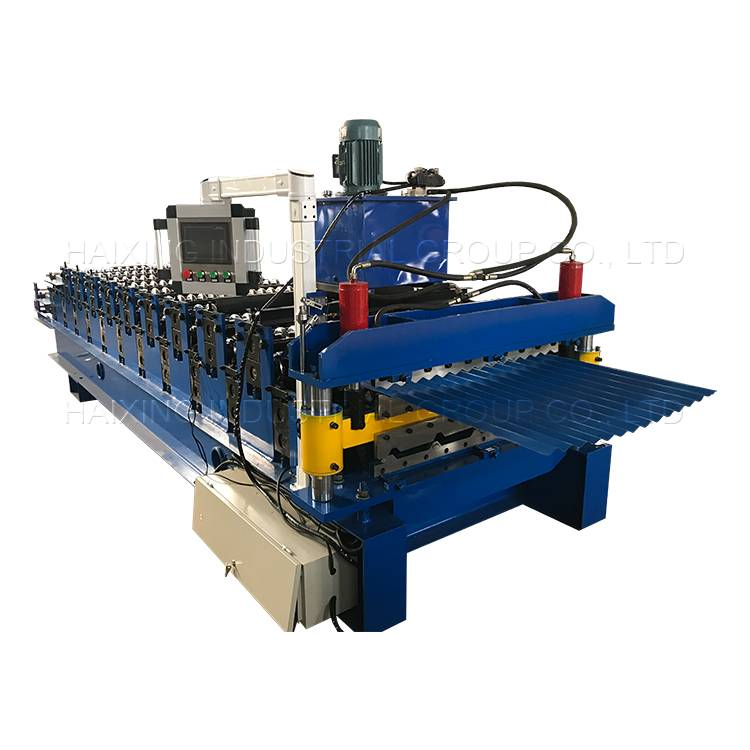 Best Price on Color Steel Galvanized Metal Trapezoidal Roof Tile Sheet Roll Forming Machine Featured Image