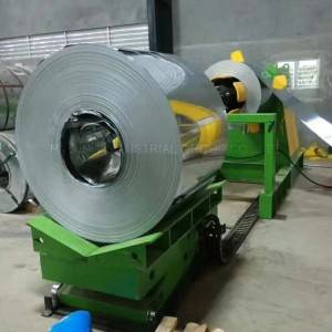 Coil Automated Decoiler Working In Steel Coil Cutting Line