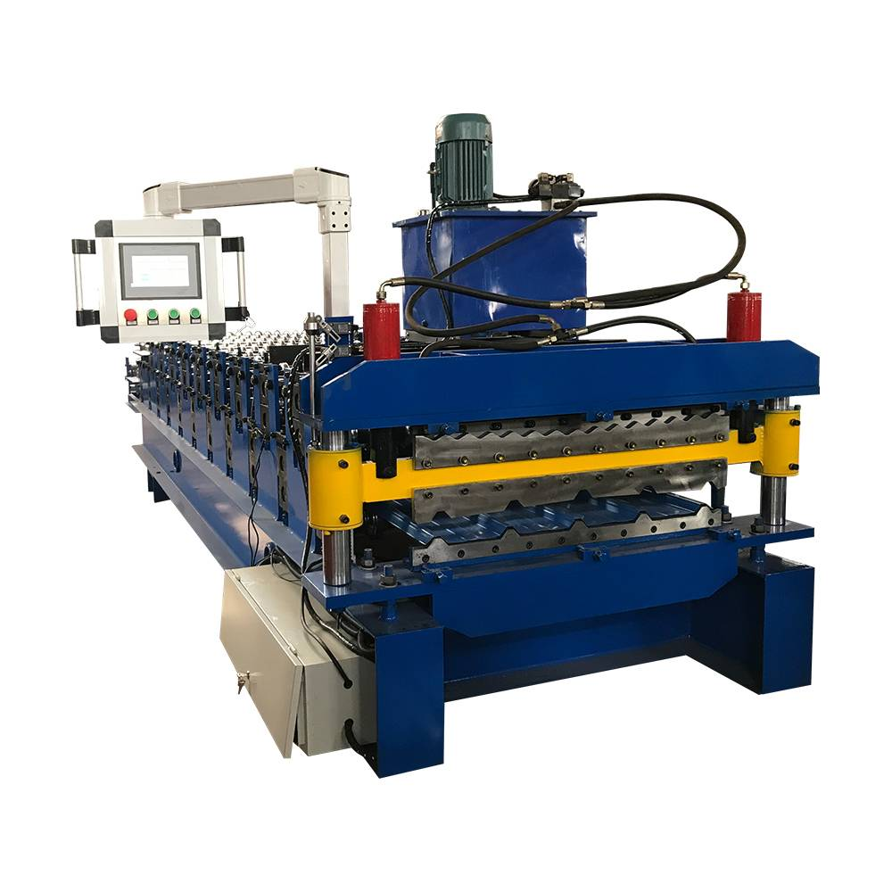 Chinese wholesale Big Roll Slitting Machine - Factory Directly supply Xh 840/850 Double Layer Tile Forming Machine Roof Tile Roll Forming Machine – Haixing Industrial