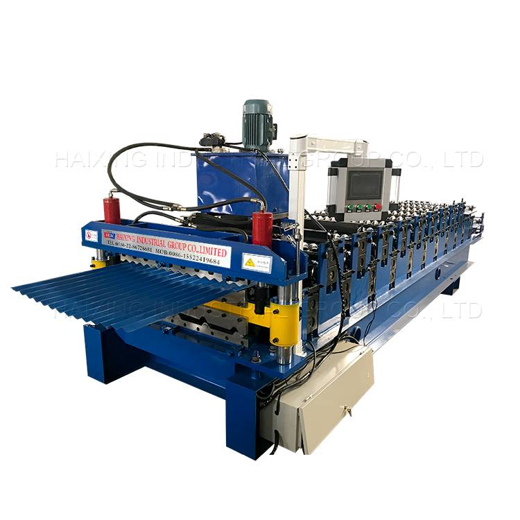 Reasonable price Metal Tile Glazed Double Layer Ibr Steel Roofing Sheet Manual Decoiler Roll Making Forming Machine Featured Image