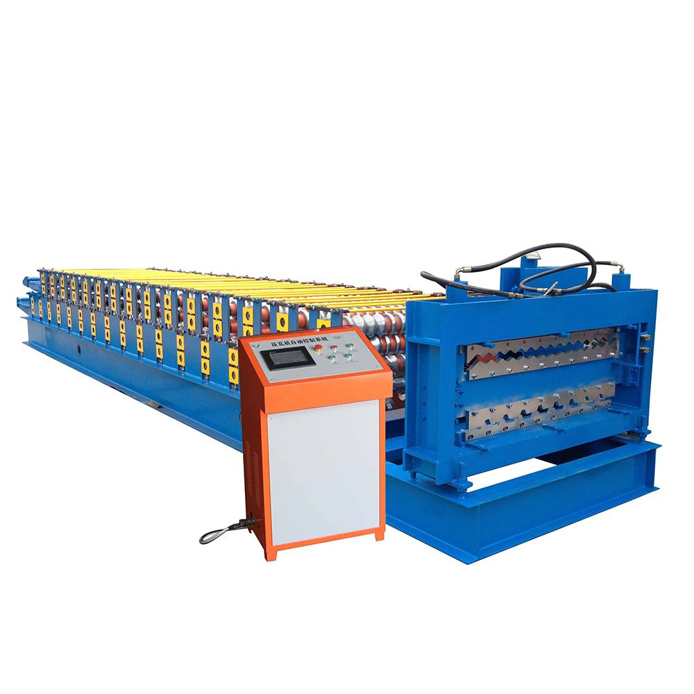 2017 Latest Design Curved Cladding Sheets Machine - Corrugated Roof Double Layer Roll Forming Machine – Haixing Industrial