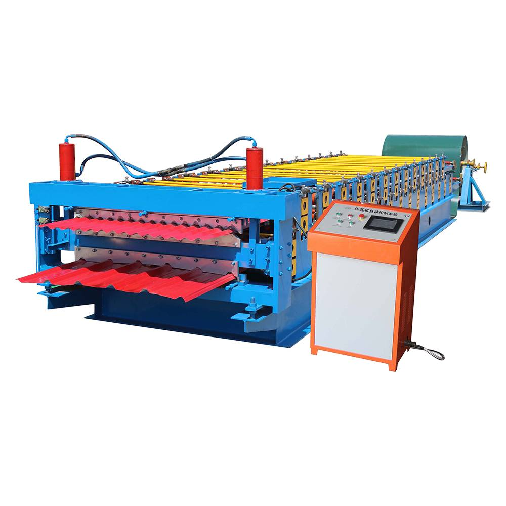 Reasonable price Automatic Metal Roof Tile Making Machine - Double Layer Roll Forming Machine – Haixing Industrial