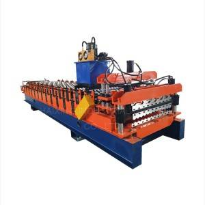 Excellent quality Glazed Roof Tile Sheet Making Roll Forming Machine Alu Zinc Panel Cold Roofing Machine