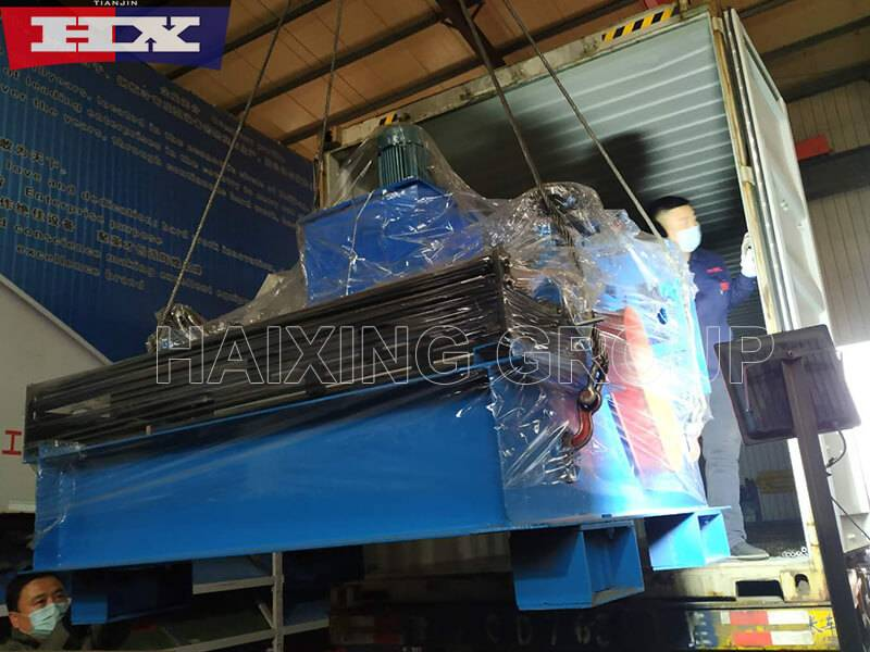Cold roll forming machines are disinfected and the loading is complete.