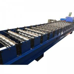 100% Original Factory Yx 820 Colored Glaze Steel Metal Sheet Cold Roll Forming Machine For Roof And Wall Panel
