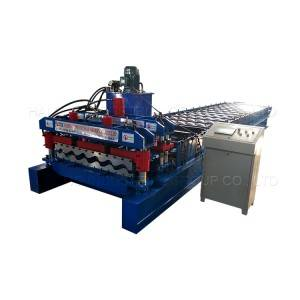 Free sample for 760 Step Roof Panel Metal Steel Colored Step Glazed Roof Tile Making Machine