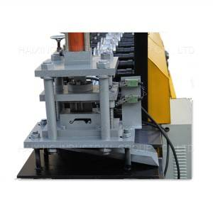 Rolling shutter door slat roll forming machine for making metal shutter door