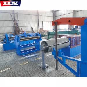 Slitting machine for stainless steel coils