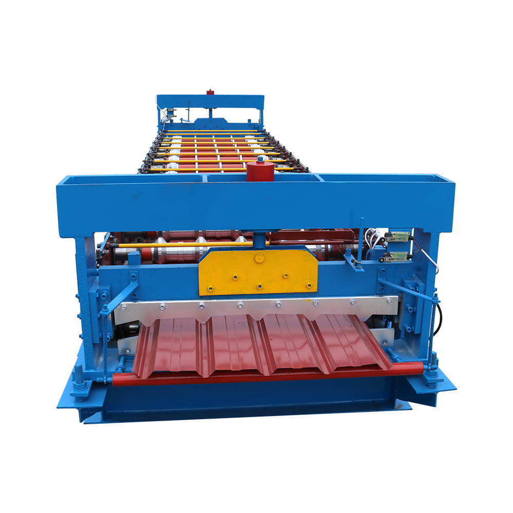 OEM China Trapezoidal Sheet Roof Tile Roll Forming Machine For Production Line Featured Image
