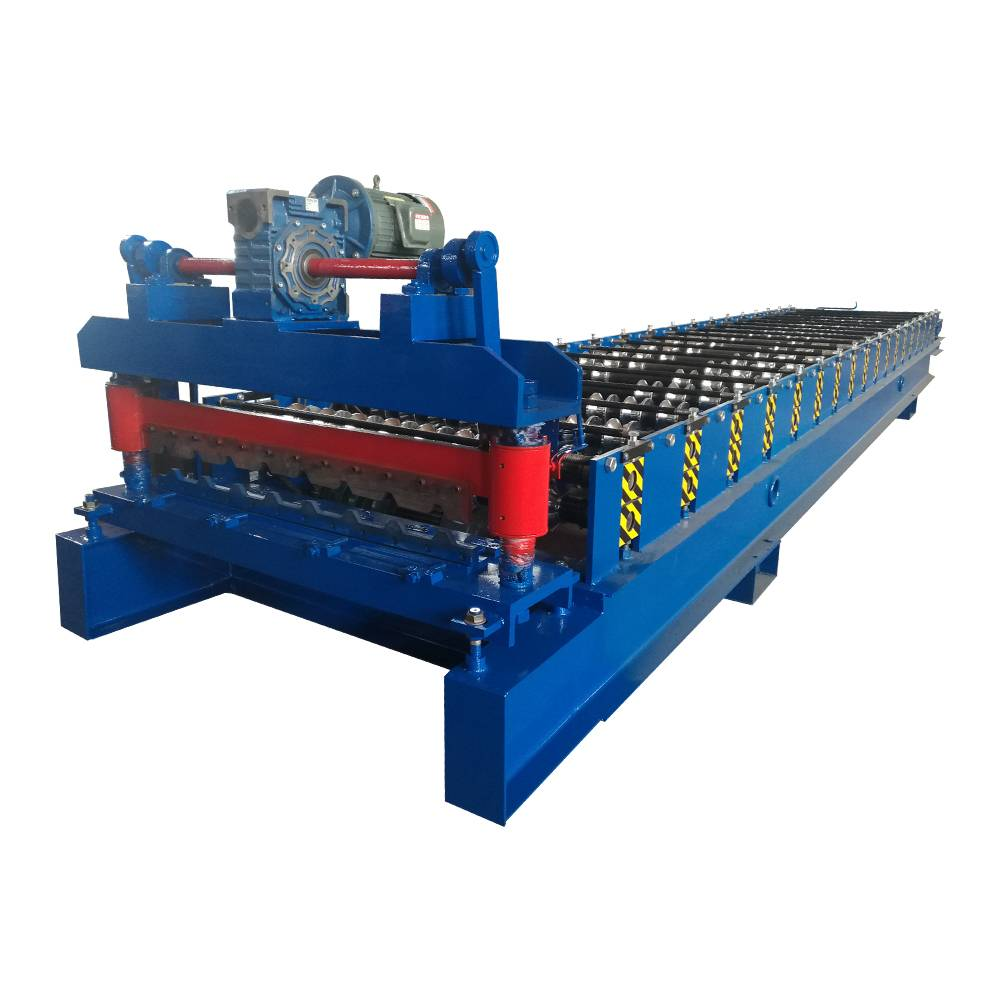 Factory making Color Stone Coated Metal Roof Tile Production Line - Metal Trapezoidal Sheet Roll Forming Machine – Haixing Industrial
