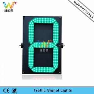 High quality 600*400mm one digital traffic countdown timer LED traffic light