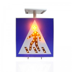 pedestrian led solar traffic sign