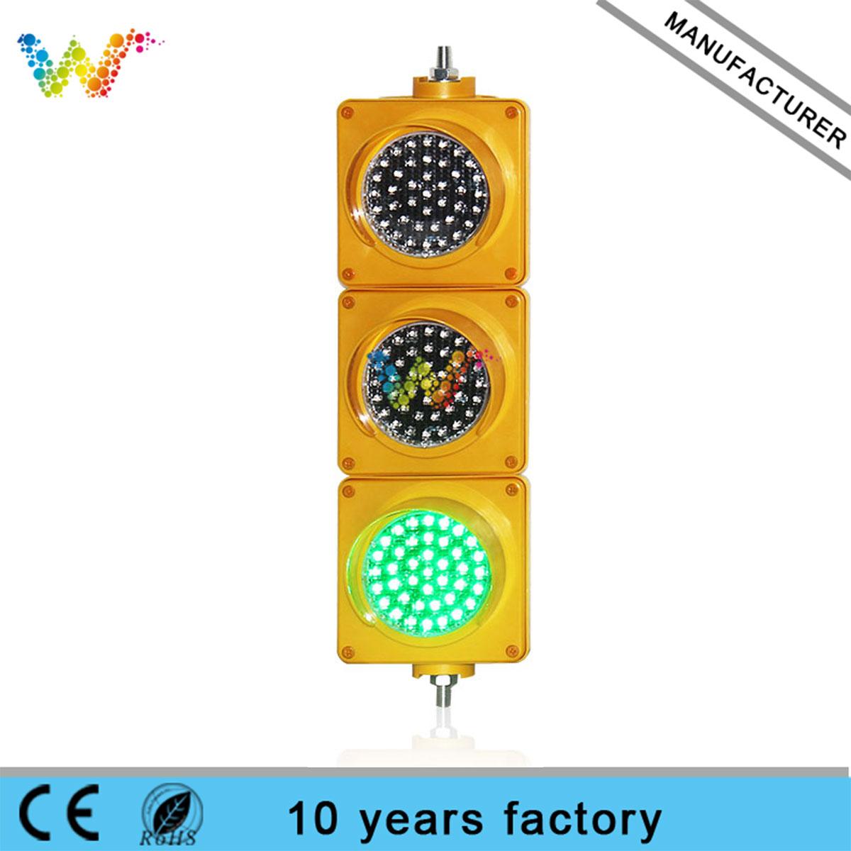 red amber green 100mm 12v dc led traffic light