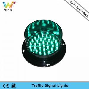 Green LED flasher customized 100mm traffic light