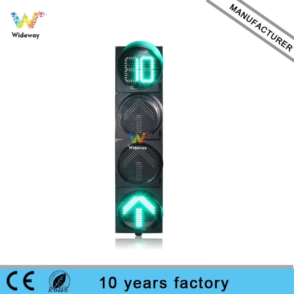 Super brightness 400mm countdown timer arrow traffic signal light