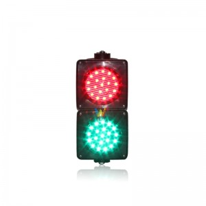 new PC housing 100mm red green LED traffic signal light mini school teaching traffic light