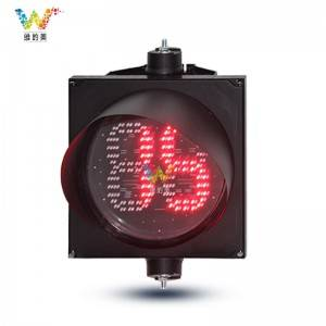 plastic housing road signal 2 digits 400mm countdown timer traffic light