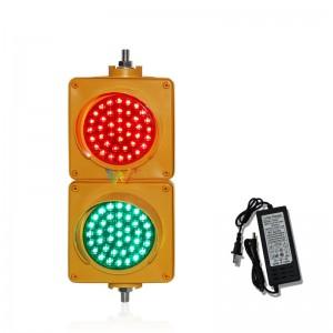Mini school teaching customized 100mm PC traffic light