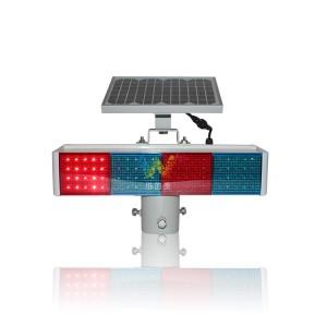 New PC housing red blue module solar flashing warning light