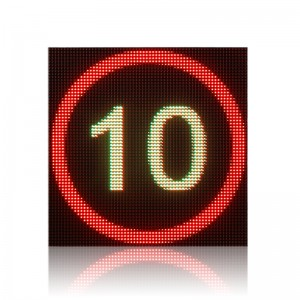 Tunnel road high quality cold-rolled iron P10 RGB LED display variable speed limit sign board