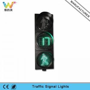 300mm LED pedestrian traffic signal light with countdown timer