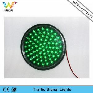 Waterproof Taiwan Epistar LED 300mm green lampwick led traffic light