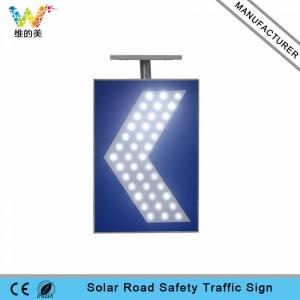 Road safety aluminum LED flashing solar warning light