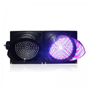 Customized design 200mm yellow purple full ball traffic signal light for sale
