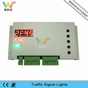 New design one intersection DC12V controller card for portable solar traffic signal light