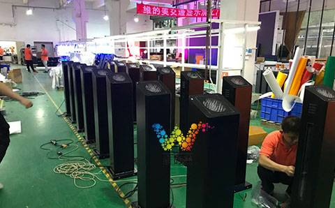 Installation of black voice prompt column in Pujiang County, Jinhua City, Zhejiang Province