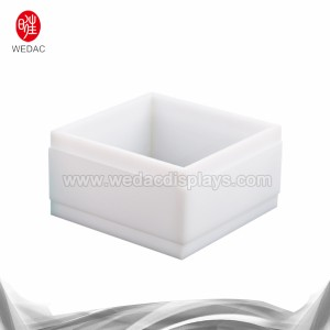 White acrylic display box