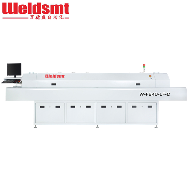 Middle-sized 8 Zones Hot Air Reflow Soldering Machine W-F840-LF-C W-F840-LF Featured Image