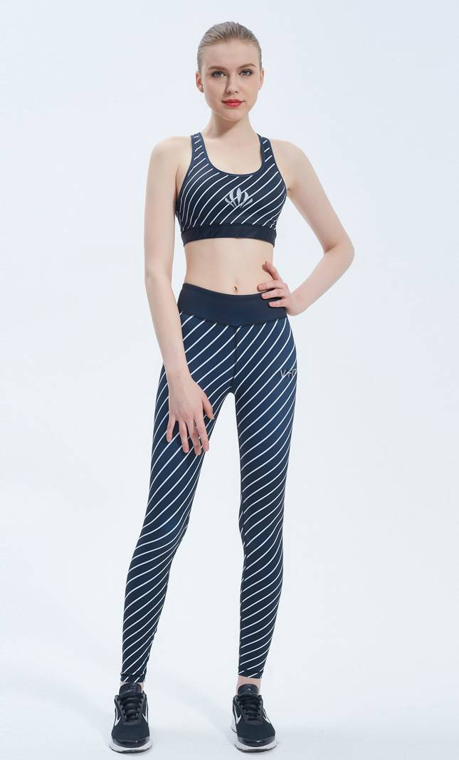 Compression Elastic Gym Wear Custom Tight Women Slimming Running Yoga Sets