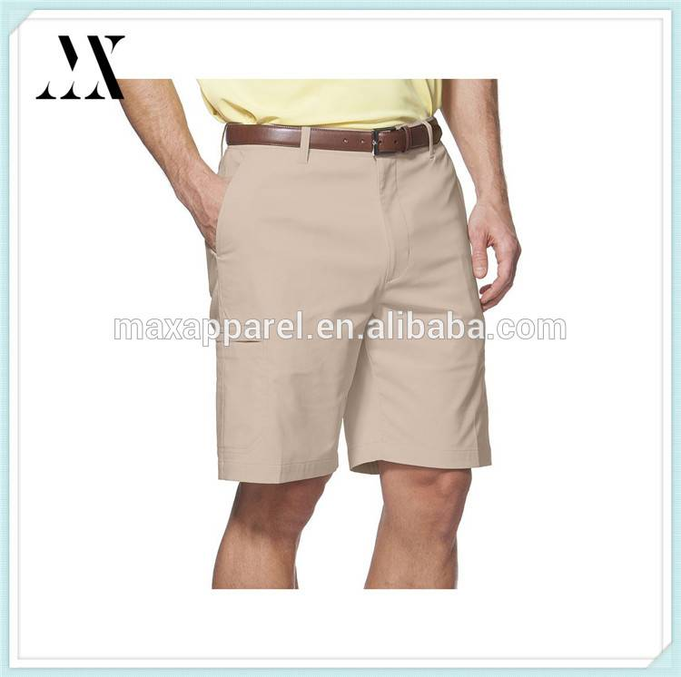 2017 Wholesale Factory Custom Polyester/Spandex Golf Cargo Shorts Top Quality Golf Shorts