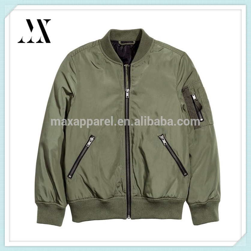 Hot Sale Custom Boys Pilot Jacket Flight Bomber Jacket with Multi-Pocket