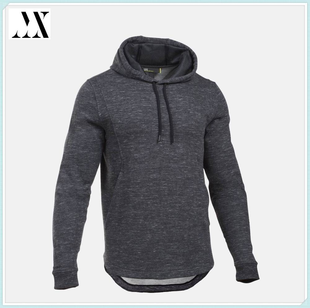 Wholesale Factory Direct Men's Basketball Hoodie Cotton/poly blend Heather Fleece Hoodie