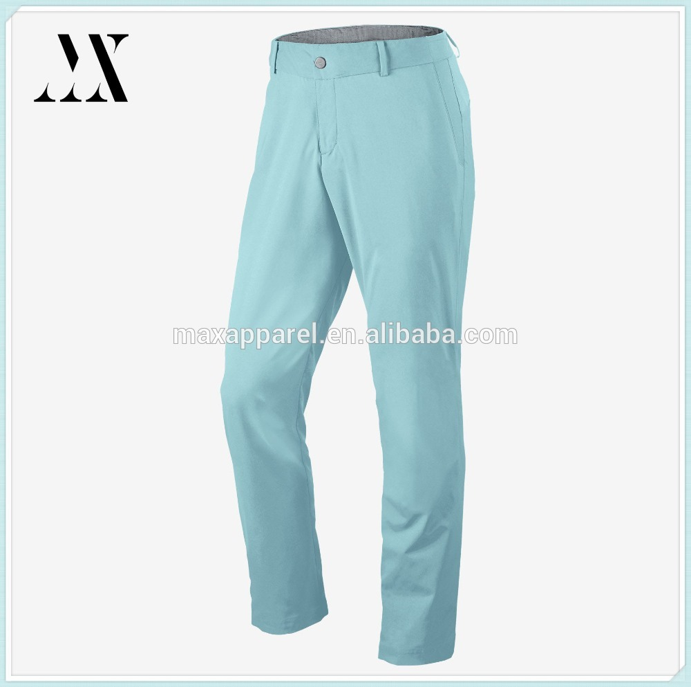wholesale 100% polyester modern tech woven men's golf dry fit pant