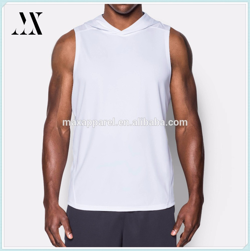 2017 polyester blank fitness sleeveless gym men basketball hoodie loose clothing workout basketball wear hoodie