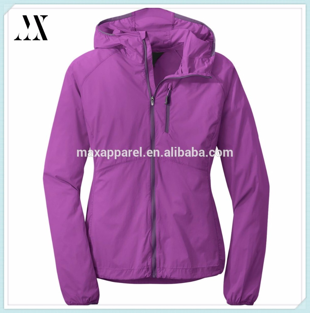 Best seller softshell slimt fit adjustable hood zippered chest pocket women outdoor cycling jacket