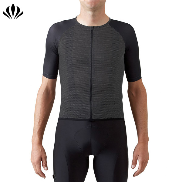 Custom men sportswear clothing dry fit short sleeve bicycle compression crew neck cycling jersey