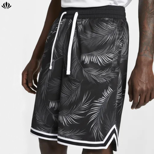 Wholesale soft sweat-wicking fabric lightweight loose all over print men's basketball shorts