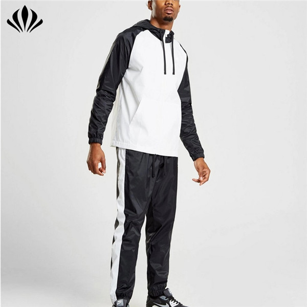 OEM best seller plain mens polyester full zip tracksuit jogging suits wholesale men sweat suit
