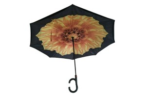 Double layer fabric inverted umbrella